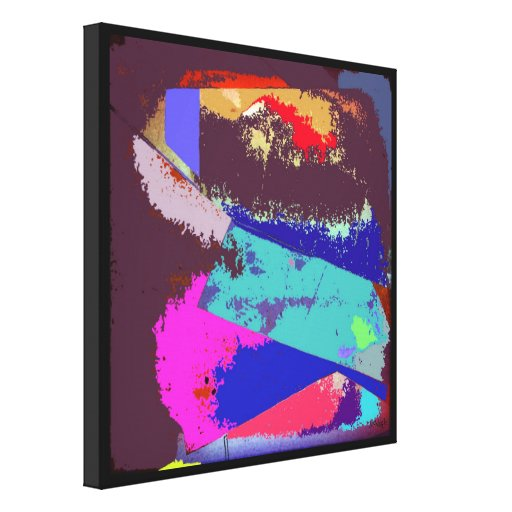 Waves Abstract Expressionism Canvas Print