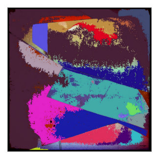 Waves Abstract Expressionism Poster Art