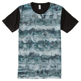 Waves All-Over Print T-Shirt