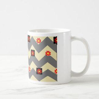 waves and flowers basic white mug