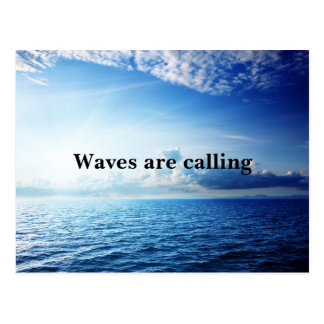 Waves are calling postcard