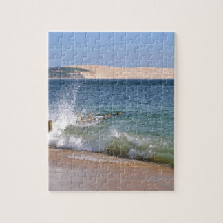 Waves at Cap-Ferret in France Jigsaw Puzzle