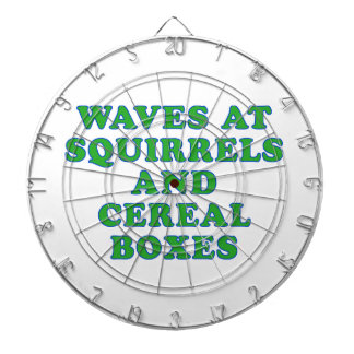Waves at Squirrels and cereal boxes Dartboard With Darts
