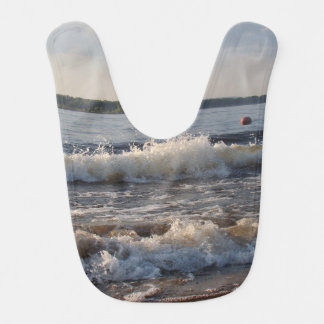 Waves At The Beach Baby Bibs