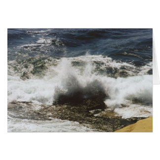 Waves Breaking at Seashell Beach Card
