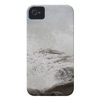 Waves breaking on rocks iPhone 4 Case-Mate case