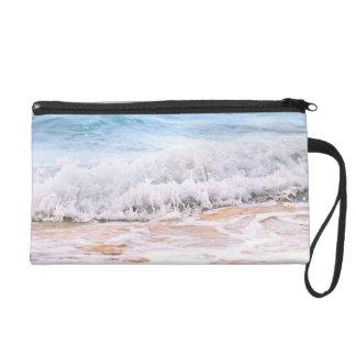 Waves breaking on tropical shore wristlet