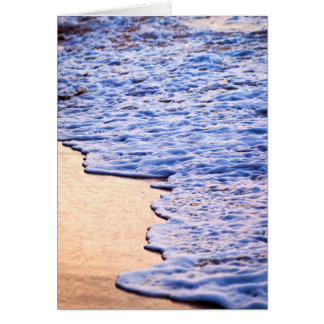 Waves breaking on tropical shore card