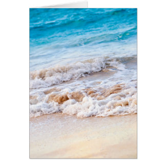 Waves breaking on tropical shore greeting cards