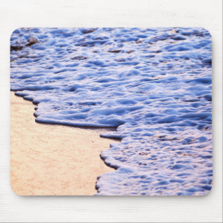Waves breaking on tropical shore mouse pads