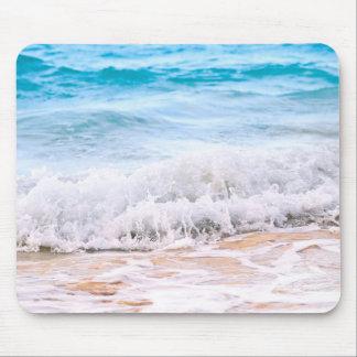 Waves breaking on tropical shore mousepad