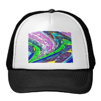 WAVES COLORFUL SPECTRUM PATTERN SHIRTS ENERGY HAT