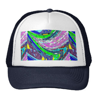 WAVES COLORFUL SPECTRUM PATTERN SHIRTS ENERGY CAP