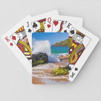 Waves crash on the beach, Hawaii Playing Cards