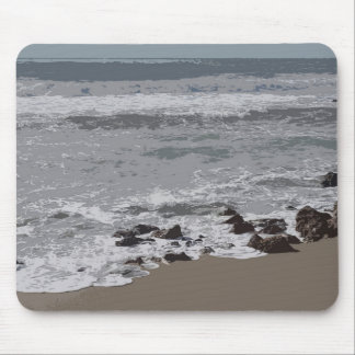 Waves Crashing on to the Beach Mouse Pad