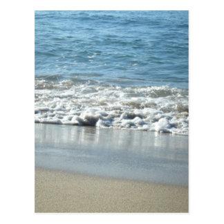 Waves crashing. postcard