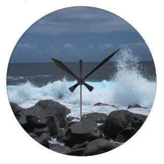 Waves Crashing Wall Clocks