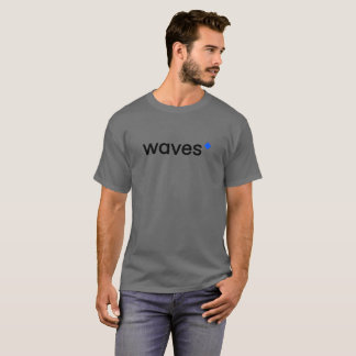 Waves Cryptocurrency Blockchain Gray T-Shirt