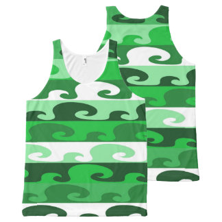 Waves (green) All-Over print singlet