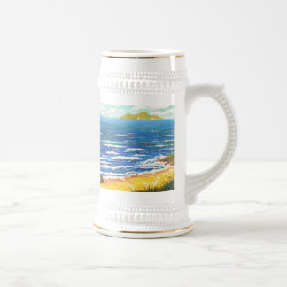 Waves have consciousness. beer stein