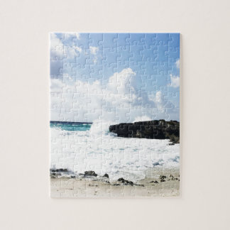 Waves hitting the shore jigsaw puzzle
