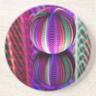Waves in crystal ball coaster