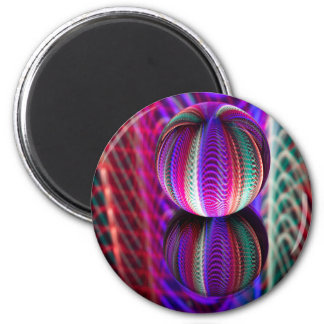 Waves in crystal ball magnet
