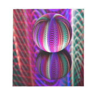 Waves in crystal ball notepad