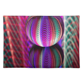 Waves in crystal ball placemat