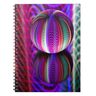 Waves in crystal ball spiral notebook