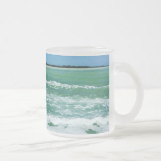 Waves in the gulf of Mexico Frosted Glass Coffee Mug