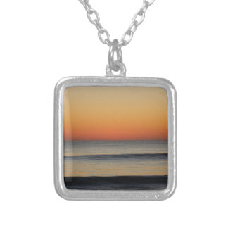 Waves in you Horizon Silver Plated Necklace
