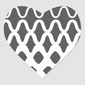 Waves into Particles Heart Sticker