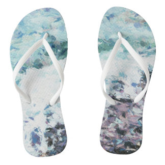 Waves lap at the shore - painting - art gift - abs thongs