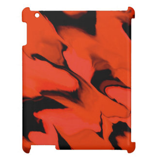 Waves of Black and Red Case For The iPad 2 3 4