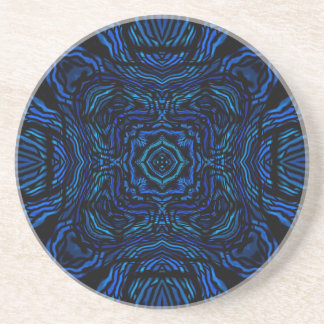 Waves of  Blue Sandstone Coaster by Julie Everhart
