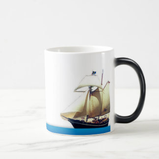 Waves of Change Navy Mug with Schooner Woolf