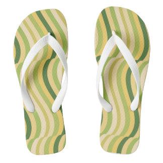 Waves of Grain Flip Flops Thongs
