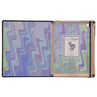 Waves of Green and Purple iPad Covers