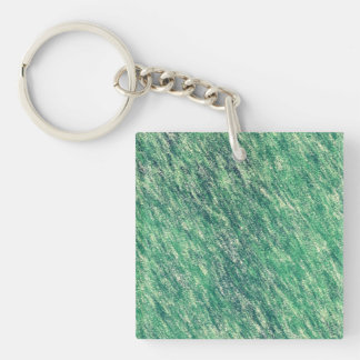 Waves Of Green Key Ring