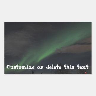 Waves of Green Light; Customizable Rectangular Sticker