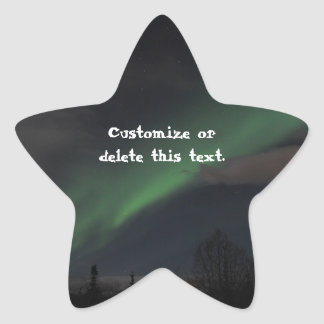 Waves of Green Light; Customizable Star Stickers