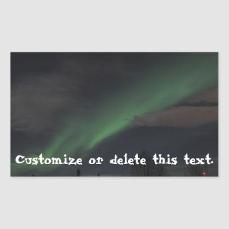 Waves of Green Light Customizable Sticker