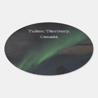 Waves of Green Light; Yukon Territory Souvenir Stickers
