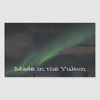 Waves of Green Light; Yukon Territory Souvenir Rectangle Stickers