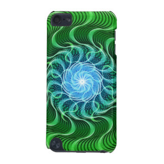 Waves of Green Mandala iPod Touch (5th Generation) Cover