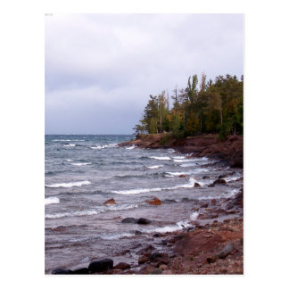 Waves of Lake Superior Postcard