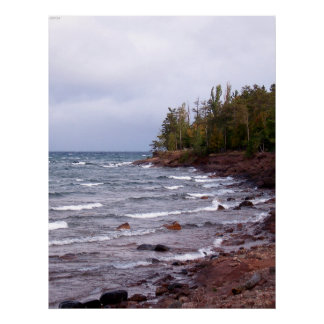 Waves of Lake Superior Poster