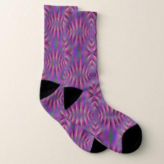 Waves of Purple Socks 1