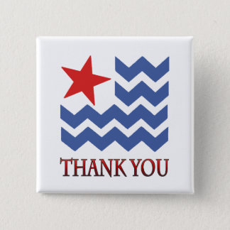 Waves Of Thank You Veterans Day Button
